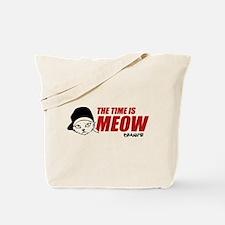 Time Is Meow Keanu Tote Bag