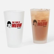 Time Is Meow Keanu Drinking Glass