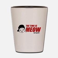 Time Is Meow Keanu Shot Glass