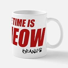 Time Is Meow Keanu Mugs