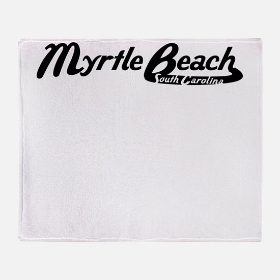 Myrtle Beach South Carolina Vintage Logo Throw Bla