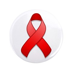 Red Awareness Ribbon 3.5