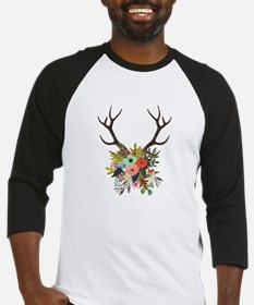 Antlers with Flowers Baseball Jersey