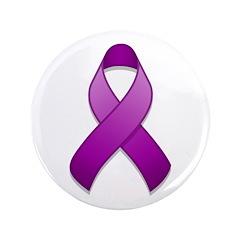 Purple Awareness Ribbon 3.5