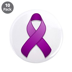 Purple Awareness Ribbon 3.5