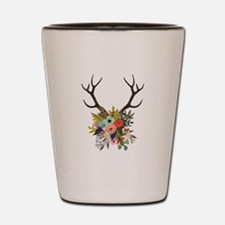 Antlers with Flowers Shot Glass