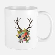 Antlers with Flowers Mugs