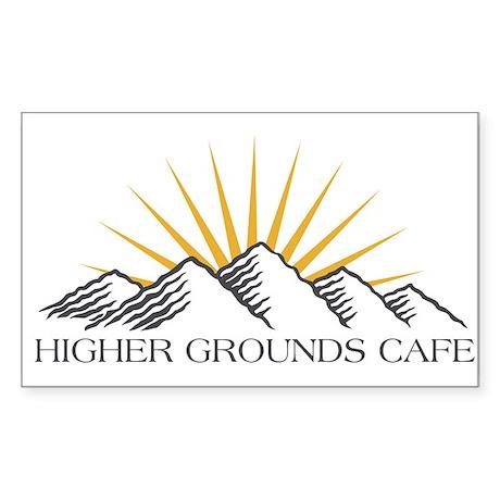 Higher Grounds Rectangle Sticker