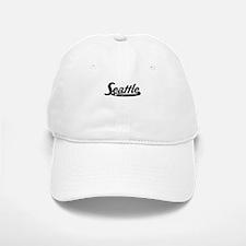 Seattle Washington Vintage Logo Baseball Baseball Baseball Cap