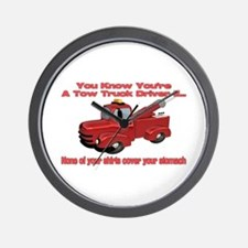 Tow Truck Tshirts and Gifts Wall Clock