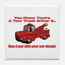 Tow Truck Tshirts and Gifts Tile Coaster