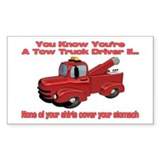 Tow Truck Tshirts and Gifts Rectangle Decal