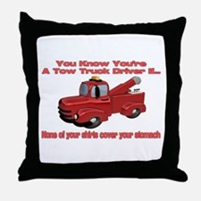 Tow Truck Tshirts and Gifts Throw Pillow