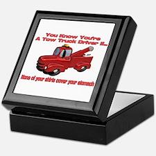 Tow Truck Tshirts and Gifts Keepsake Box