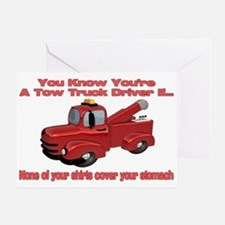 Tow Truck Tshirts and Gifts Greeting Card