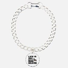 Life Is Safe With A Lanc Charm Bracelet, One Charm