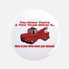 """Tow Truck Tshirts and Gifts 3.5"""" Button"""