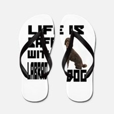 Life Is Safe With A Labradoodle Flip Flops