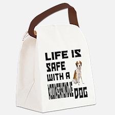 Life Is Safe With A Kooikerhondje Canvas Lunch Bag