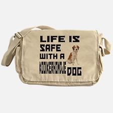 Life Is Safe With A Kooikerhondje Do Messenger Bag