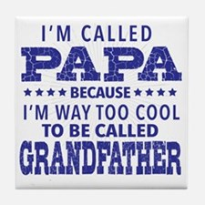 Cute Papa Tile Coaster