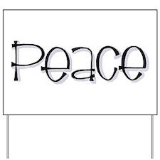 Peace Yard Sign