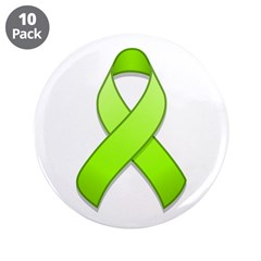 Lime Awareness Ribbon 3.5