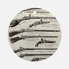 Vintage Guns Round Ornament