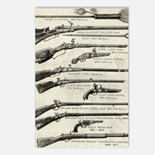 Vintage Guns Postcards (Package of 8)