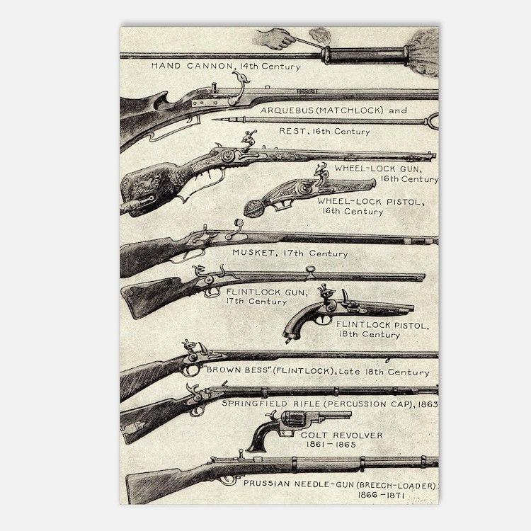 Vintage Guns Postcards (Package of 8)