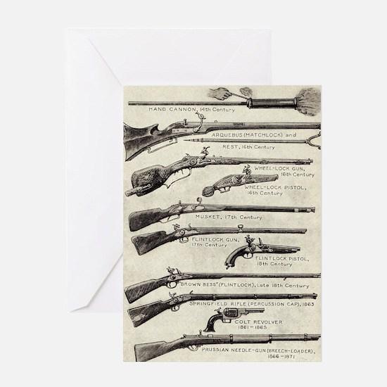 Vintage Guns Greeting Card