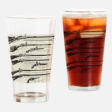 Vintage Guns Drinking Glass