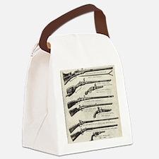 Vintage Guns Canvas Lunch Bag