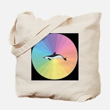 Pastel Dolphin Tote Bag