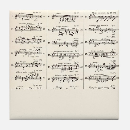 Musical Styles Tile Coaster
