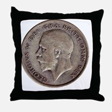 King George V Throw Pillow