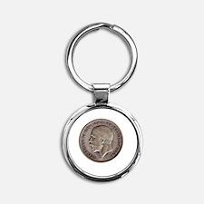 King George V Round Keychain