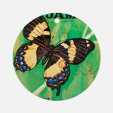 Jamaica Butterfly Print Round Ornament