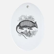 Cute Armadillos Oval Ornament
