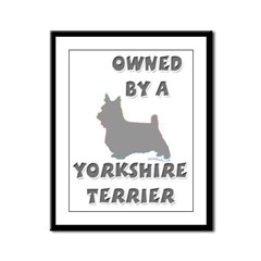 Yorkie Pewter Framed Panel Print