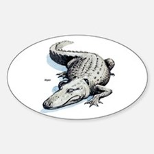 Alligator Gator Oval Decal