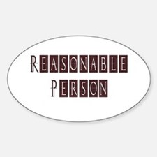 Reasonable Person Oval Decal