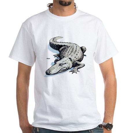 Alligator Gator White T-Shirt