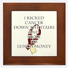 Cancer Bully (Burgundy & Cream) Framed Tile