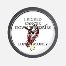 Cancer Bully (Burgundy & Cream) Wall Clock