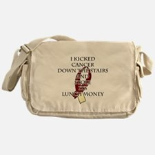 Cancer Bully (Burgundy & Cream) Messenger Bag