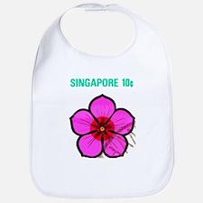 Pretty Singapore Flower Bib