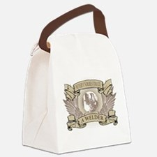 Never Underestimate a Welder Canvas Lunch Bag
