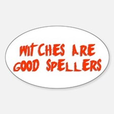 Witches are... Oval Decal