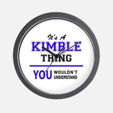 It's KIMBLE thing, you wouldn't underst Wall Clock